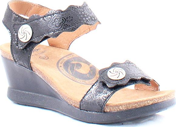 Sandale Avec Velcro, Fleur Bleu Panda Wanda